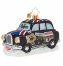 Christopher Radko U.S. Beatles Albums London Taxi Ornament