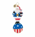 Christopher Radko United We Stand Santa Ornament