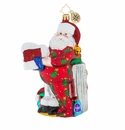 Christopher Radko Wash And Wear Santa Ornament