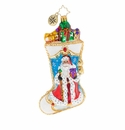 Christopher Radko Winter Time Stocking Ornament