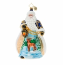 Christopher Radko Wintery Snowfall Santa Ornament