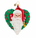 Christopher Radko With Love From Santa Ornament