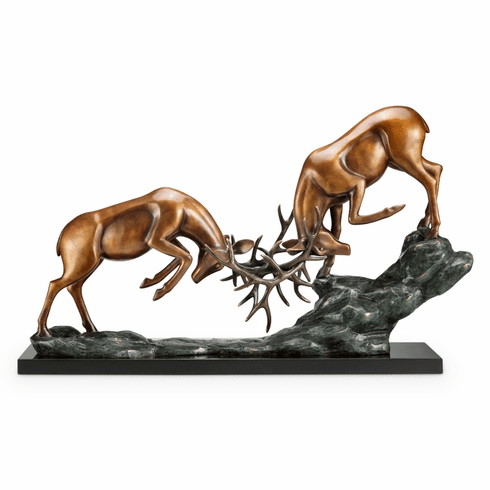 Clash Of Antlers Sculpture by SPI Home