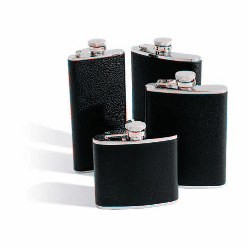 Concord 6 Oz. Whiskey Flask - Black Bison