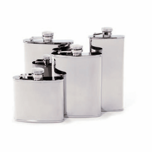 Concord 6 Oz. Whiskey Flask - Mirror Polish