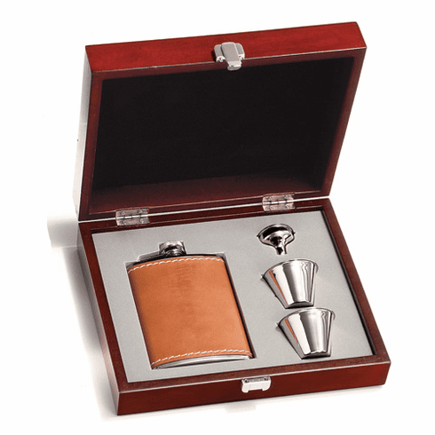 Concord Tan Bison Flask Presentation Set