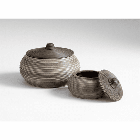 Conti Plastic Rattan Ebony Containers by Cyan Design