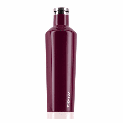 Corkcicle Glossy Merlot Insulated Water Bottle 25 oz