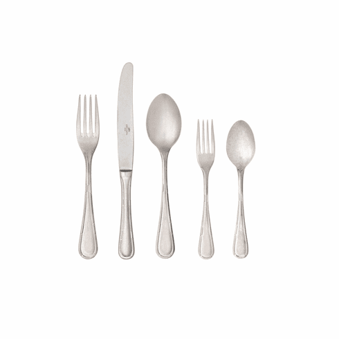 Costa Nova Ancestral 5 Piece Flatware Set Oxyde