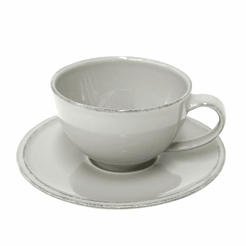 Costa Nova Friso Tea Cups & Saucers Set Of 6 - Grey