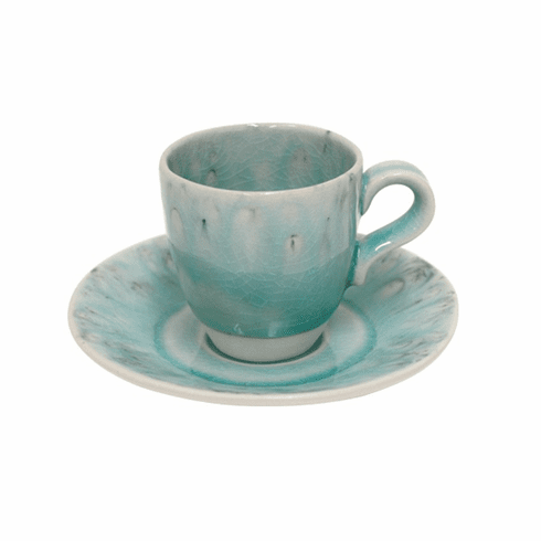 Costa Nova Madeira Coffee Cups & Saucers Set Of 6 - Blue