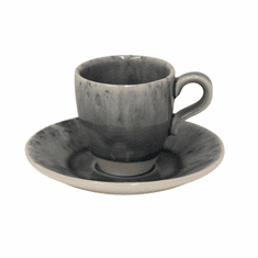 Costa Nova Madeira Coffee Cups & Saucers Set Of 6 - Grey