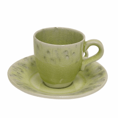 Costa Nova Madeira Coffee Cups & Saucers Set Of 6 - Lemon