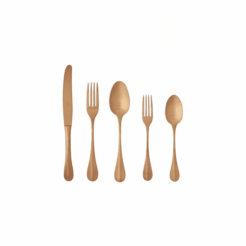 Costa Nova Nau Copper Flatware 20 Piece Set without Box