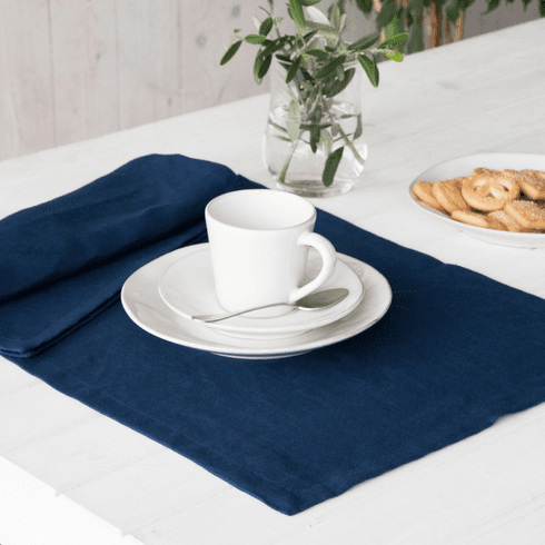 Costa Nova Porto Place Mats Set Of 2 - Navy