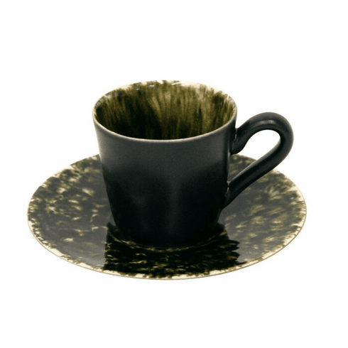 Costa Nova Riviera Coffee Cups & Saucers Set Of 6 - Forest