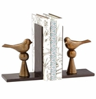 Cyan Design Birds and Books Bookends
