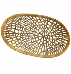 Cyan Design Caught In Your Web Antique Brass Colored Bowl