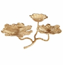 Cyan Design Flowers and Flames Candleholder Gold
