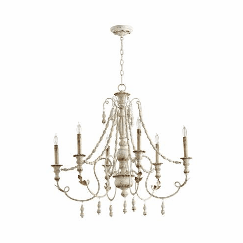 Cyan Design Lyon Six Light Chandelier White