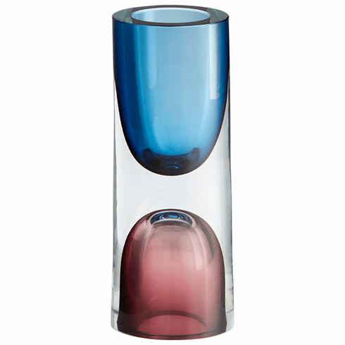 Cyan Design Small Majeure Vase Purple & Blue