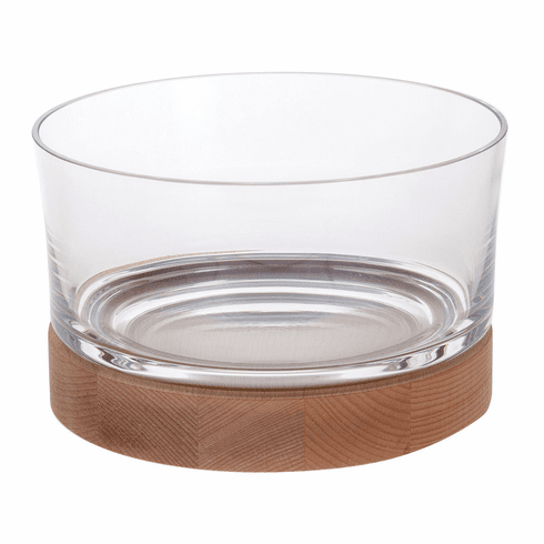 Dartington Large Fusion Bowl With wood Base