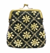 David Jeffery Coin Bag - Black/Bronze/Clear