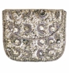 David Jeffery Handbag - Silver Beads/Pewter Strap