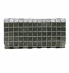 David Jeffery Handbag - Silver Clutch With Chain