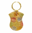 David Jeffery Mobile Bag - Gold/Green/Orange/Blue