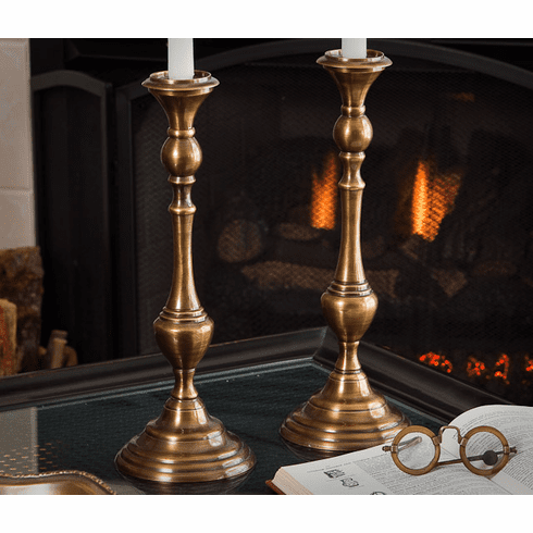 Dessau Home Antique Brass Candleholder Home Decor