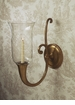 Dessau Home Antique Brass Horn Sconce ( With Clear Glass & Rim Not Shown) Home Decor