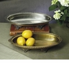 Dessau Home Antique Brass Oval Footed Centerpiece Home Decor
