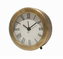 Dessau Home Antique Brass Ribbed Clock Home Decor
