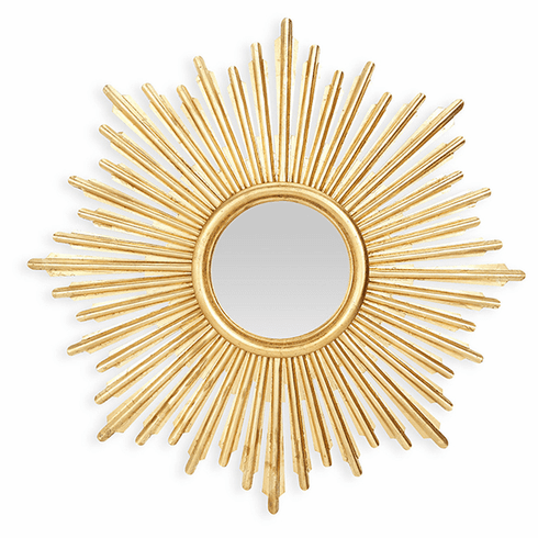 Dessau Home Antique Gold Sunburst Mirror Home Decor