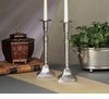 Dessau Home Antique Silver Candleholder Square Base Home Decor
