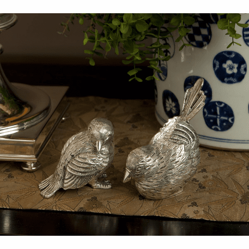 Dessau Home Antique Silver Chicks Home Decor
