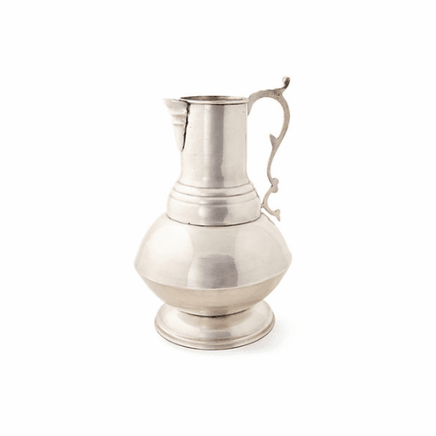 Dessau Home Antique Silver Decorative Pitcher/Vase Home Decor