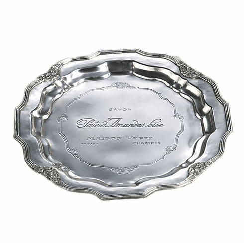 Dessau Home Antique Silver French Charger Home Decor