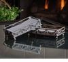 Dessau Home Antique Silver Garland Guest Towel Holder Home Decor