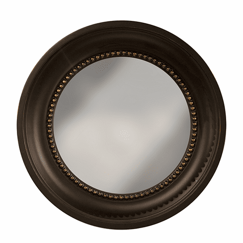 Dessau Home Black and Gold Colonial Convex Mirror Home Decor