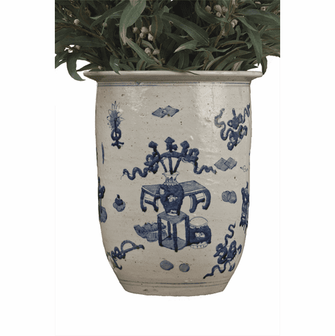 Dessau Home Blue & White Porcelain Planter Home Decor