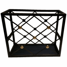 Dessau Home Bronze Button Magazine Rack