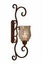 Dessau Home Bronze Flare Scroll Sconce Home Decor
