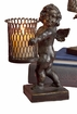 Dessau Home Bronze Iron Angel Sculpture with Votive Home Decor