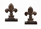 Dessau Home Bronze Iron Fleur De Lis Bookends Home Decor