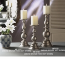 Dessau Home Bronze Pillar Candleholder - Large Home Decor