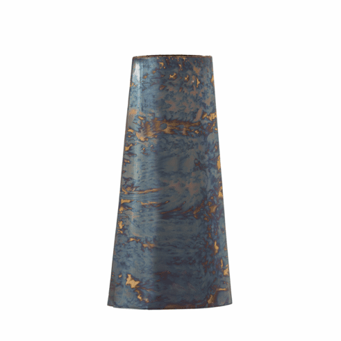 Dessau Home Flamed Vase with Gold Trim