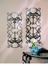 Dessau Home Fleur De Lis Wall Panels Bronze Iron with Brass Medal Home Decor