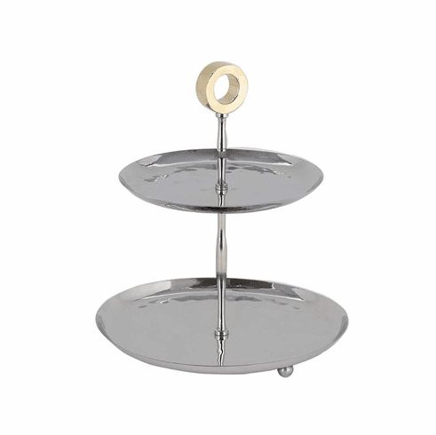Dessau Home Gold Ring 2 Tier Server